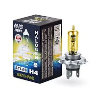 "Лампа ""AVS"" ATLAS H4 ANTI-FOG/желтый 12V 55W (к-т 2шт)"